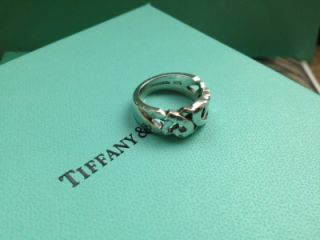Authentic Tiffany Co 925 Paloma Picasso Loving Hearts Ring Sz 7