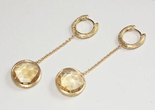Marco Bicego Jaipur 18K Gold Citrine Earrings New