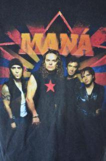 Mana Concert Tour XL T Shirt 2002 Black Revolucion de Amor Spanish