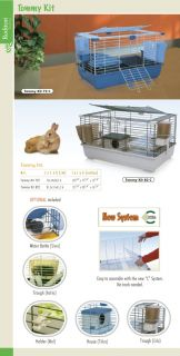 Marchioro USA Tommy 82C Rabbit Guinea Pig Cage Kit New 32x20x17