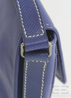 Vintage Royal Blue Coated Canvas Marco Polo Crossbody Bag New