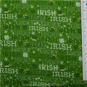 Irish Pot of Gold Shamrock St Patricks Day Fabric 1 2 Yard