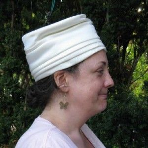 Vtg 60s Silky White Turban Hat by Miss Margo