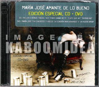 CD + DVD MARIA JOSE Amante De Lo Bueno Edicion Especial NEW 2011 En
