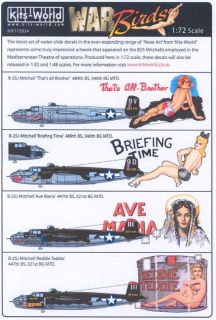 Kits World Decals 1 72 B 25J Mitchell Nose Art 2