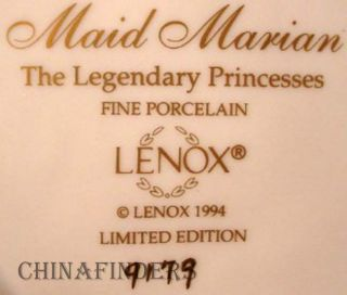 Lenox China Legendary Princesses Maid Marian