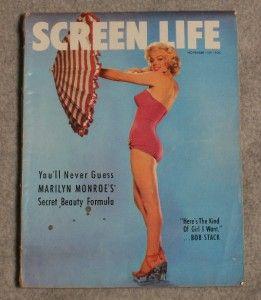 Screen Life Marilyn Monroe Cover Story Photos November 1953