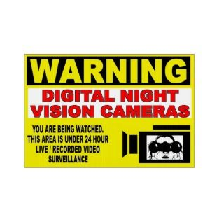 WARNING   24 HOUR VIDEO SURVEILLANCE LAWN SIGNS