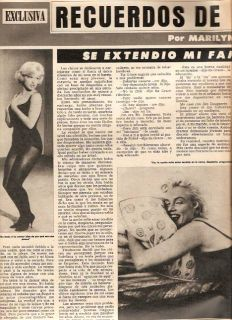 Hola Magazine Marilyn Monroe Ingrid Bergman Spain 1975