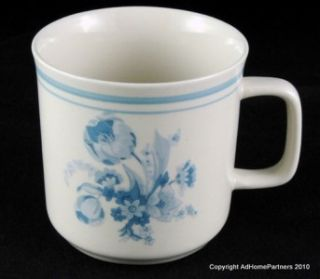 Stoneware Dinner Ware Set of 12 Pieces Blue Floral Pattern
