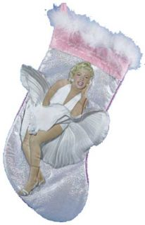 Marilyn Monroe Silver and Pink Christmas Stocking