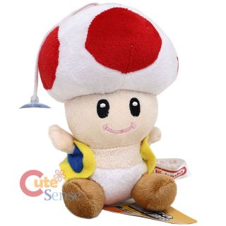 Super Mario Bros Red Toad Mushroom Plush Doll