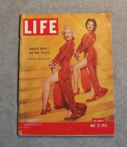 Life Marilyn Monroe Jane Russell Cover Story Photos May 1953 Gentlemen
