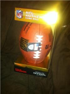 Wilson NFL Authentic Game Ball Official Football Roger Goodell The