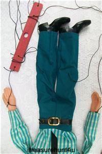 Vintage Hazelle Marionette 15 Bald Man Airplane Control Rubber Face