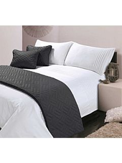 Hotel Collection White Pintuck king duvet cover set