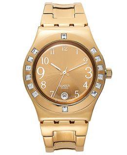 Swatch Watch, Womens Swiss Fancy Me Gold Coated Stainless Steel