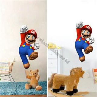 Super Mario Kids Boy Nursery Room Bed Room Game Removable Wall