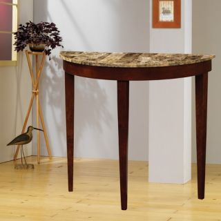 Wildon Home Faux Marble Top Console Table in Cherry 950070