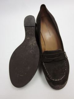 Marc Fisher Brown Suede Loafers Wedges Sz 6