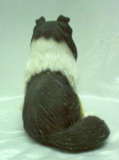 Collie Tri Color Dog Puppy Vintage Figurine Signed JCM