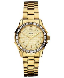 GUESS Watch, Womens Gold Tone Stainless Steel Bracelet 36mm U0018L2