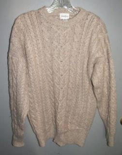 Gorgeous  100 Cashmere Thick Warm Heavy Cableknit Sweater