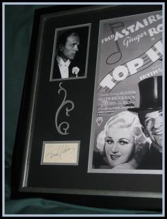 Fred Astaire Autograph Ginger Rogers Autograph Signatures in Display