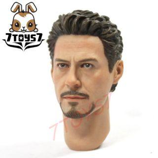 Hot Toys 1 6 Iron Man 2 Mark IV Head Tony Stark HT031D