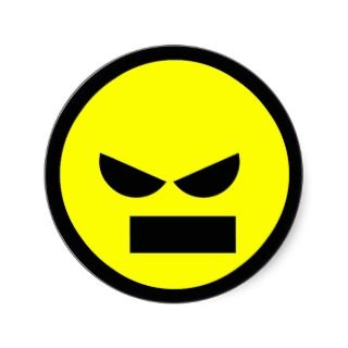 Angry Miser Ani Smiley Face Sicker