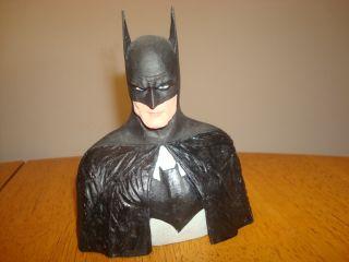 Batman Custom Hand Painted 6 Bust Statue Very Nice L K