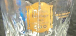 Vintage Markos Heritage Inn Restaurant Glass Pitcher Pineapple Glass