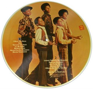 MICHAEL JACKSON / THE JACKSON 5 ~ 1984 MOTOWN PICTURE DISC LP w GLOVE