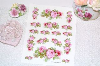 Must See Exquisite HP Roses Decals Shabby Cottage Chic