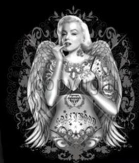 Marilyn Monroe Angel T Shirt Wings Diamond Biker Ride Funky Cool Retro