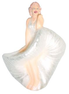 Marilyn Monroe White Dress Glass Christmas Ornament