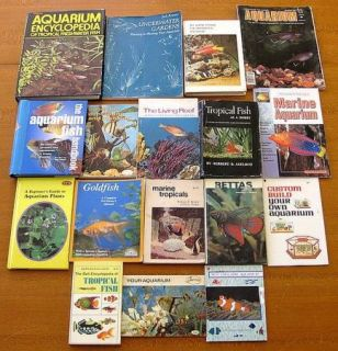 Lot Of 16 AQUARIUM Books Tropical Fish, Underwater Gardens, Bettas