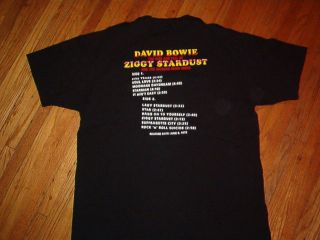 David Bowie Ziggy Stardust T Shirt Spiders from Mars XL