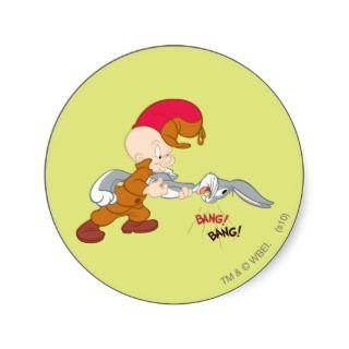 Elmer Fudd and Bugs Bunny Stickers