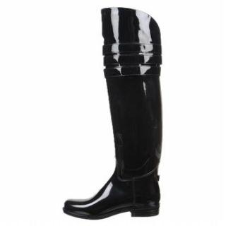 Ava Unique Tall Logo Buclke OTK Rubber Rain Boots XS s M L XL