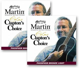 Martin ® Eric Clapton Signature Acoustic Strings 2   Sets   New