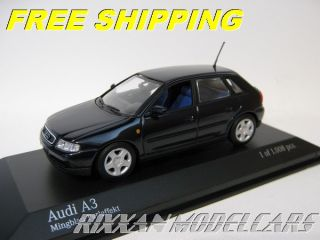 Audi A3 5 Door 1999 Ming Blue Pearl Effect 1 43 Minichamps New