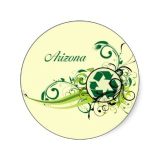 Recycle Arizona Round Stickers