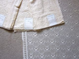 Vintage Pure Coton Cottage Lace Curtain Panels Marthe