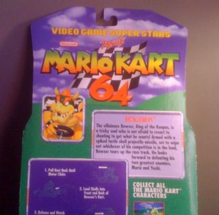 Mario Kart 64 Bowser Figure Super RARE 1999 Toy Biz