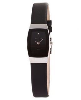 Skagen Denmark Watch, Womens Black Leather Strap 271SSLB