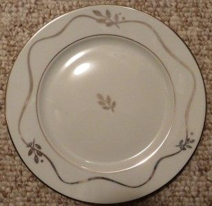HAVILAND Limoges Duo Platine White Accent Plate NEW w/ stickers FREE