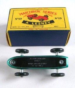 Matchbox Lesney 19 Aston Martin Racing Car 1961 MIB