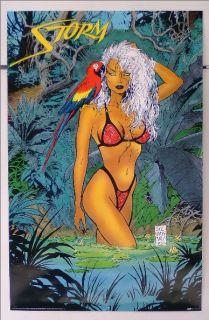 SEXY 1993 X MEN BIKINI GIRL STORM MARVEL COMICS POSTER 149; SILVESTRI