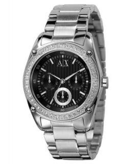 Armani Exchange Watch, Womens Stainless Steel Bracelet 42mm